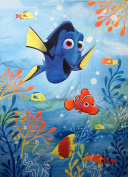 Finding Dory Happy Day In The Sea 100% Polyester (COMFORTER ONLY) Size TODDLER Girls Kids