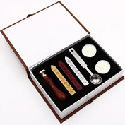 Kamidi DIY Classic Custom Alphabet Initial Letter Sealing Wax Seal Stamp Luxury Gift Set
