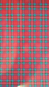 30cm x 38cm Red Plaid or Tartan Print HTV vinyl for heat transfer , ( this is for one sheet only) Vinyl is brighter than the pictures.