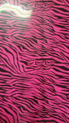 4 Beautiful colours - 30cm x 38cm Neon Zebra Print HTV vinyl for heat transfer, the colours are much brighter than the picture shows