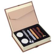 Wax Seal Stamp Kit Hogwarts School Badge Wax Sealing Set Retro Stamps Maker Gift Box Set