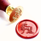 Vooseyhome The Unicorn Wax Seal Stamp with Rosewood Handle