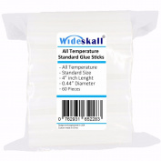 Wideskall All Temperature Standard Glue Sticks, 1.1cm x 10cm inch, Pack of 60
