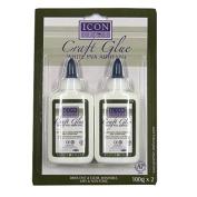 Icon Craft Glue, White PVA Adhesive - Pack of 2