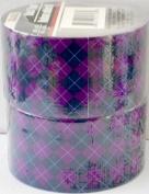 2 Rolls Deep Violet and Black Argyle Patterned Duct Tape Bundle