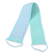 Long Exfoliating Back Scrubber with Handles - Hemp & Terry Cloth - 80cm Long - Full Exfoliation Surface - Perfect for Exfoliating and Polishing