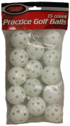 15 count Practise golf balls