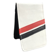 Sunfish Scorecard and Yardage Book Holder / Cover - White with Red/Black Stripes
