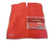NEW Club Glove Microfiber Caddy + Pocket Towel 43cm x 100cm Red/Grey