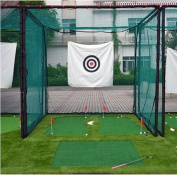 77Tech 3mx3mx3mLarge Golf Hitting Cage Target Net with Complete Frame Kit & Poles,Heavy Duty Net with Target Cloth
