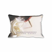 41cm x 60cm Pillow Protector White Rose Pillow Cover Home Decorative Kids Gift Pillow Cushion Cover