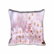 Square 41cm x 41cm Zippered Cherry Flowers Cloe Up Pillowcases Digital Print Adults Kids Cushion Covers