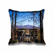 Square 50cm x 50cm Zippered Black Rock Mountain State Park View Pillowcases Digital Print Adults Kids Cushion Covers