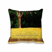 Square 50cm x 50cm Zippered Ginkgo Reflection Pillowcases Digital Print Adults Kids Cushion Covers