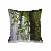 Square 50cm x 50cm Zippered Waterleaf Encounters Pillowcases Digital Print Adults Kids Cushion Covers