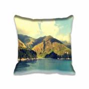 Square 50cm x 50cm Zippered Mountains Pillowcases Digital Print Adults Kids Cushion Covers
