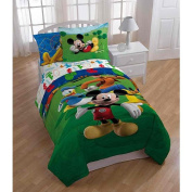 Disney Mickey Mouse Clubhouse 3 Piece Twin Sheet Set Comes with Flat Sheet, Fitted Sheet, and a Pillowcase