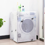 Waterproof Washing Machine Zippered Top Load Dust Storage Cover Decor