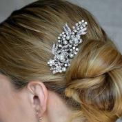 FXmimior Bridal Women Vintage Wedding Party Crystal Rhinestone Vintage Hair Comb Hair Accessories
