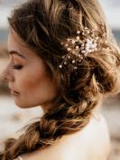 FXmimior Vintage Bridal Women Vintage Wedding Party Hair Comb Crystal Vine Hair Accessories