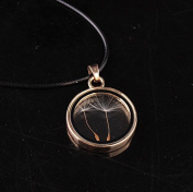Leiothrix Special Alloy Dandelion Glass Necklace for Women and Girls Apply to Weeding Party Casual