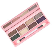 Kingfansion 8 Colours Pro Eyeshadow Shimmer Mate Palette Cosmetic Brush Mirror Makeup Set
