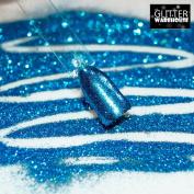 GlitterWarehouse Metallic Blue Cosmetic Loose Glitter Powder for Makeup, Nail Art, Body Tattoo & More