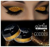 GlitterWarehouse Goddess Holographic Gold Glitter for Eyeshadow / Eye Shadow Shimmer Makeup Powder