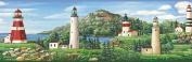 Chesapeake BBC46081B Gilead Lake Lighthouse Portrait Wallpaper Border, Green