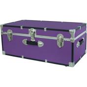 Mercury Luggage Seward Trunk Wheeled Storage Footlocker, 80cm Purple