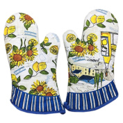 Set of 2 Professional Potholder Oven Mitts/Gloves Protect Your Hand Sunflowers
