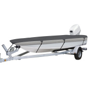 Classic Accessories Trailerable Boat Cover With Cam Buckle For Utility/Fishing Boats