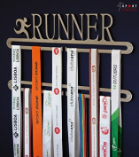 Running medal display double hanger