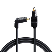 Urbo Multi-Pivot Swivel and Rotate HDMI 30AWG, 2m Cable with Flexible Gold Plated Connectors for Easy Access to Difficult Corners and Ports