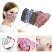 Bazaar Cycling Anti Wind Dust Flu Nose Mouth Muffle Cloth Cover Barrier Activated Carbon Cotton Face Mask Ear Loop
