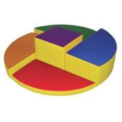 ECR4Kids SoftZone Five Level Rainbow Foam Climber