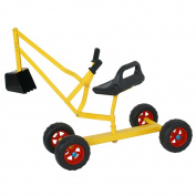 Zeny Sand Digger Toy Backhoe With Wheels Dig in Sand, Beach, Snow, Dirt. A Kid's Outdoor Ride on Toy
