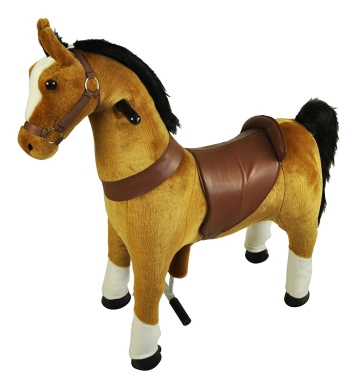 Mechanical Ride on Brown Pony Simulated Horse Riding on Toy Ride-on Pony Cycle without Battery or Power: More Comfortable Riding with Gallop Motion for Kids 5-9 Years