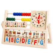 Cute Wooden Flap Abacus Learning Toys Gifts