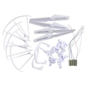 Accessory Set Replacement Parts for Syma X5 X5C RC Quadcopters, 2 x Landing Skid 4 x Propeller 4 x Propeller Protection Fram 2 x Anti-clockwise motor 2 x clockwise motor 4 x motor bases