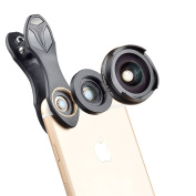 6 in 1 Phone Camera Lens Kit - 198¡ã Fisheye Lens & 0.63x Wide Angle Lens & 15x Macro Lens & 2X Telephoto Lens & CPL Lens for iPhone 6/7/6s Plus/SE, for Samsung S7/S6/Edge, LG, Moto, HTC, Sony and more
