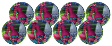 Hedstrom #4 Trolls Playball - Party Pack Of 8 Balls