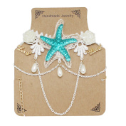 Special Fashion Beach Accessories Starfish Chain Lace Short Necklace Girlfriend Gift Mermaid Accessory Halloween Cosplay