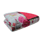 Famous Home Fashions 902576 Famous Home Birds in Paradise Quilt Bed Cover,Multi,Fl/Queen