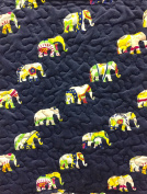 Ivy Hill Home Quilted Throw Blanket 130cm x 150cm Elephant