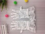 YYGIFT® Women's Floral Short Tulle Lace Gloves Wrist Length for Dress Driving and Wedding Party Sun Protection Gloves