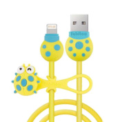 Charging Cable-Ipone Cable with Line Manager, Cute Incect Pattern USB Line-A3