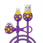 Charging Cable-Ipone Cable with Line Manager, Cute Incect Pattern USB Line-A5