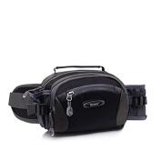 LifeWheel Outdoor Sports Multifunctional Water Resistant Nylon Waist Pack for Women with Water Bottle Holders,3-Zipper