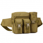Huntvp Tactical Water Bottle Wait Pack Bag Military Molle Pouch Fanny Pack Bumbag for Outdoors